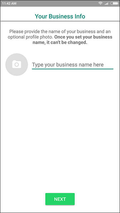 whatsapp business name